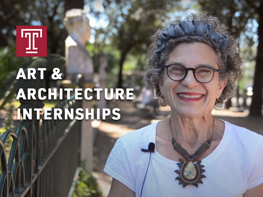 Art and Architecture Internships at Temple Rome
