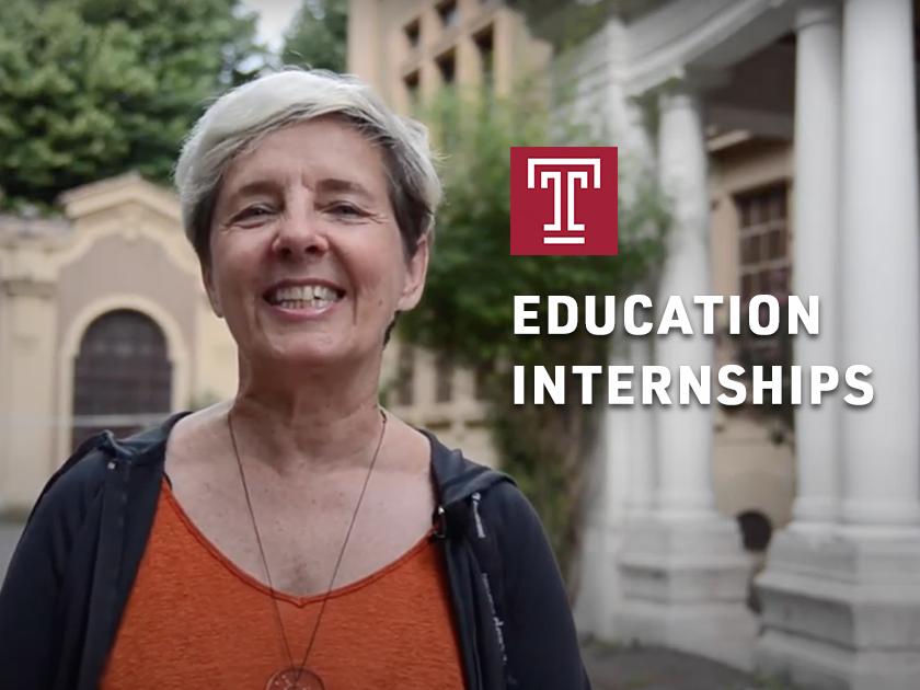 Education Internships at Temple Rome