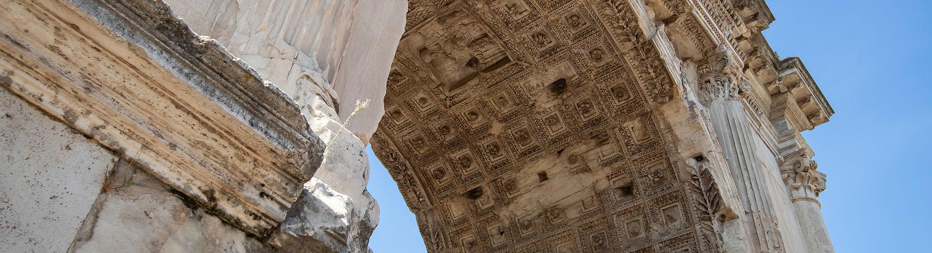 Roman arch seen from below