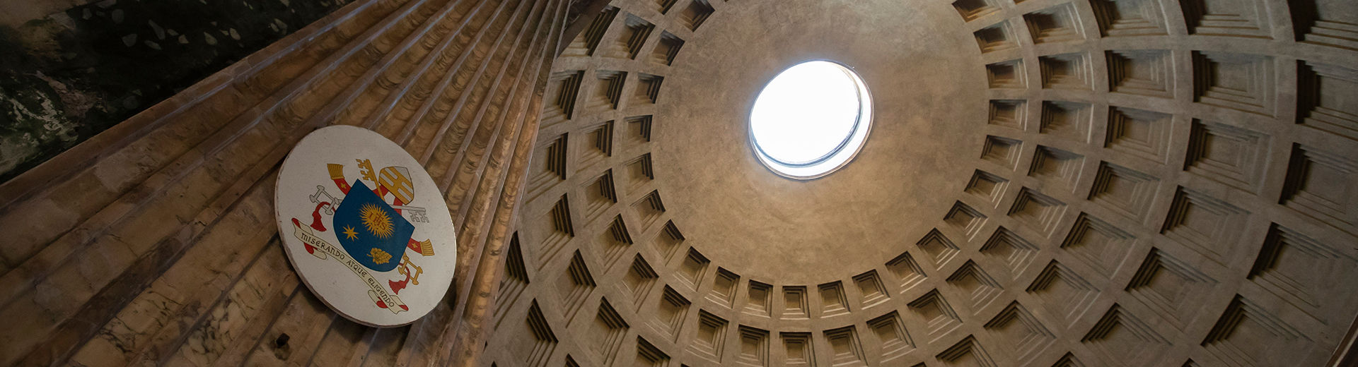 dome on Pantheon from below