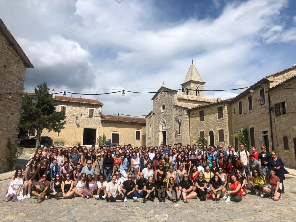 A group of students in Titignano, Italy